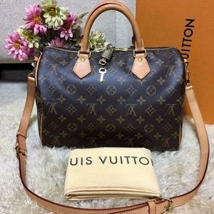 Authentic LV Speedy 30 Bandouliere